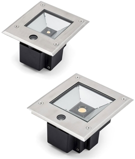 Unique LED Ground Uplights With Dusk 'til Dawn Sensor