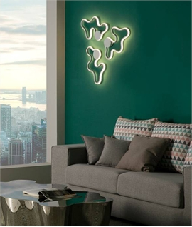 Halo Effect Flush Wavy Ceiling or Wall Light