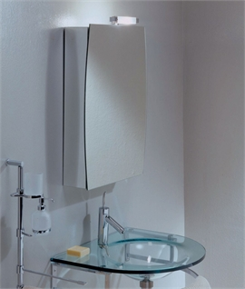 Luxury Bathroom Cabinet with Halogen Top Light