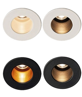 Premium Low-Glare Recessed LED Niche Light - 4 Finishes