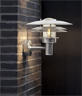 Outdoor Galvanised Wall Light in Scandi-Style