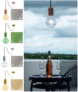 Off-Set Outdoor Pendant and Lamp - IP65 Rated