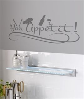 Splashproof LED Illuminated Glass Shelf with Switch