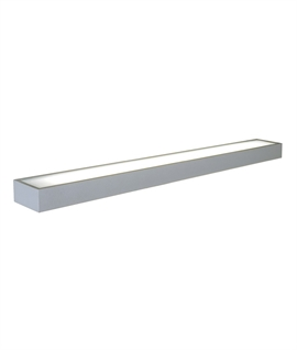 Illuminated Aluminium Box Shelf with Frosted Glass