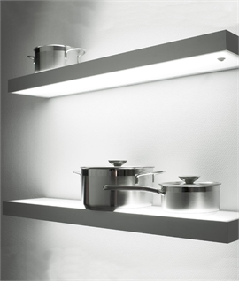 Floating Illuminated Shelves For Kitchens Bathrooms