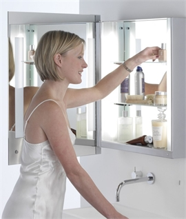 Bathroom Cabinet & Back-lit Mirror Door Width 600mm