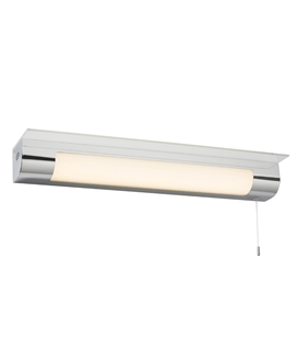 Illuminated Bathroom Shelf with Shaver Light