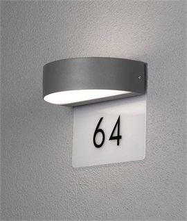 Illuminated Up & Down LED House Number