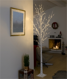 Indoor Decorative Illuminated White Birch Tree