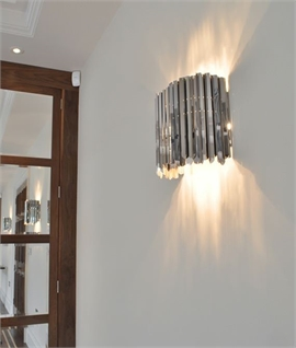 ornate lighting. facet wall light stainless steel or brass ornate lighting a