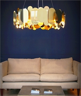 Metal Reflective Panel Pendant - Four Finishes