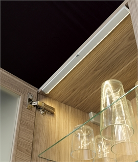 Lighting for Glass Kitchen Cabinets - Sensor Operated Picca by Sensio