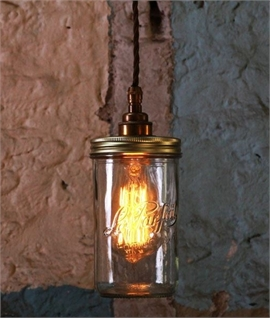 Jam Jar Glass Pendant Light