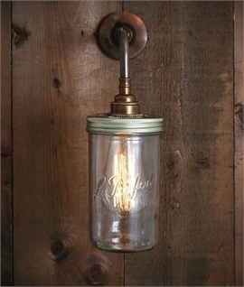 Jam Jar Glass Wall Light