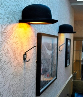 Fun funky wall lights that are a little quirky lighting styles bowler hat wall light jeeves aloadofball Images