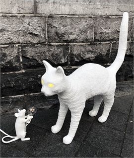 Jobby Cat - Glowing Eyes Table Lamp