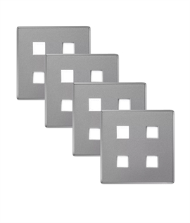 LED Square Plinth Light - 4 Pack with LED Power Supply