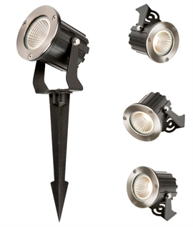 Versatile LED Garden Spotlight - Aluminium Construction
