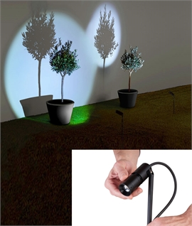 Focus Compact LED Spike Light for Box Hedges or Planters
