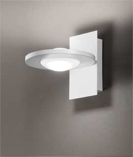 LED Ring-Shaped Wall Light with Central Diffuser