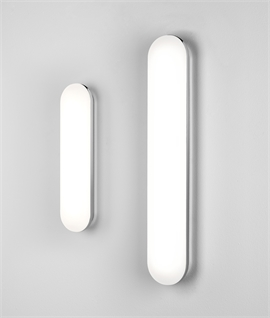 Pastel Shaped Polished Chrome LED Bathroom Wall Lights