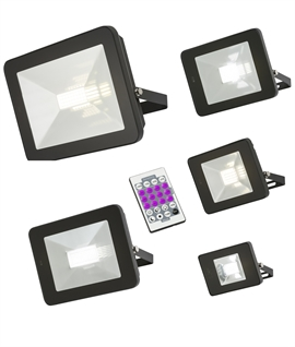 Programmable LED Floodlight with Microwave Movement Sensor
