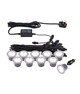 Round LED Kits - 10 Heads Great for Decking