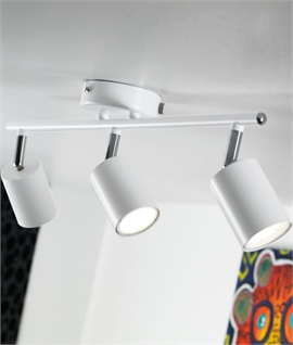 Three Spot Lightbar - Adjustable Heads With LED Lamps