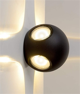 Round LED 4 Light Exterior Wall Light