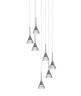 Chrome LED 7 Light Pendant