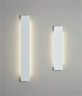 LED Backlit Plaster Wall Light - Thin Rectangular