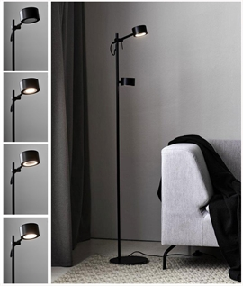 Slim Nordic Design Double LED Floor Light