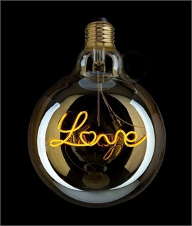 E27 125mm Globe LOVE Filament - Soft Lighting 4 Watts