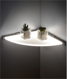 LED Illuminated Corner Shelf - Energy Efficient