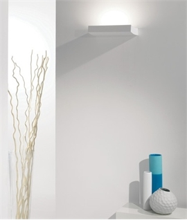 Slim Curved Plaster Wall Uplight