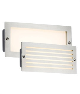 LED Recessed Brick Lights with Interchangeable Bezels