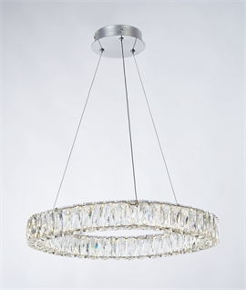 LED Crystal Ring Pendant Ø 600mm