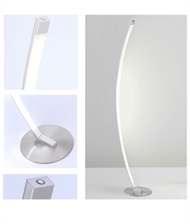 Curved LED Floor Light With Touch Dimming