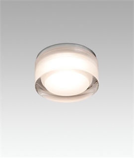 Mini Double-Layer Opal Glass Bathroom Ceiling Light