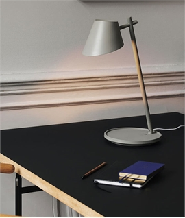 LED Tilt Table Lamp - Touch Dimmable & USB Socket