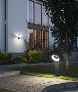 LED Aluminium Halo Bollard Light IP44