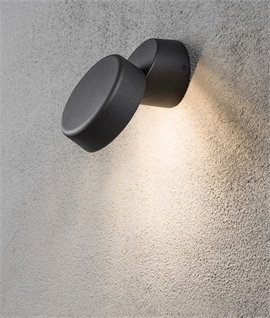 Off-Set Exterior Black Wall Light with LED