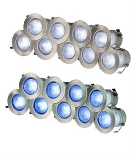 Ten Light LED Decking Lights   30mm
