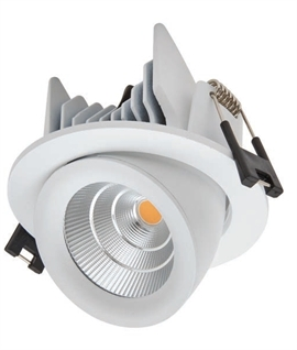 Recessed LED Scoop Downlight - White finish
