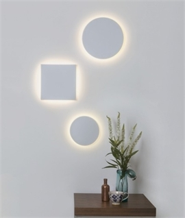 LED Backlit Plaster Wall Lights - Subtle & Glare Free