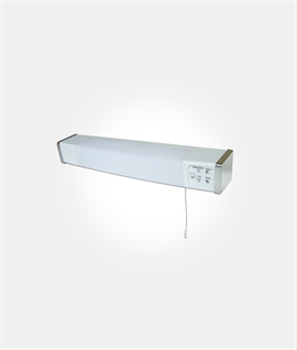 Bathroom wall shaver lights lighting styles led dual voltage shaver socket with pullcord aloadofball Image collections