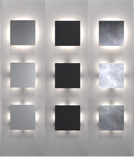 Striking Square Back Lit LED Wall Light