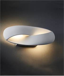 Twisted LED White Wall Light