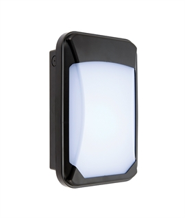 Compact Exterior Wall Light with Microwave Sensor