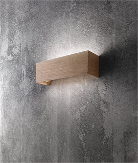 LED Oak Box Wall Light